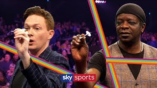 Stephen K Amos amp Stephen Bailey take on darts challenge  Grand Slam of Darts  I39m Game