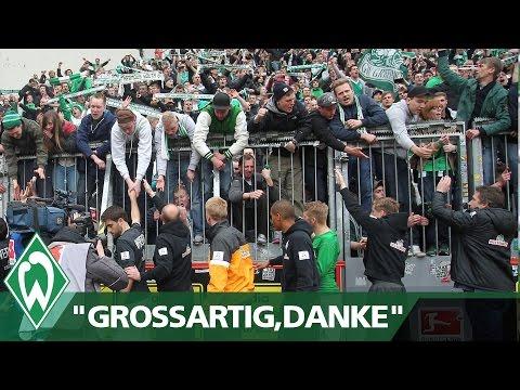 """Schaaf an die Fans: """"Großartig - Danke!"""" I Werder Bremen"""