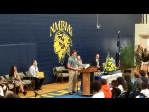 North Myrtle Beach Middle school 8th grade awards ceremony welcome speech by Hayden Best - 2016