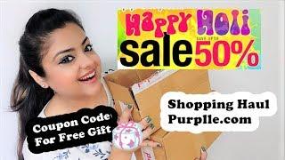 Purplle.com HOLI SALE SHOPPING HAUL | UPTO 50% | HUGE DISCOUNT DEALS