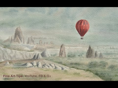 How to Paint a Hot Air Balloon in Watercolor