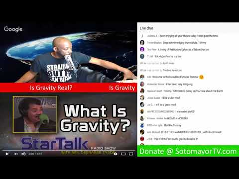 Physics Star Neil DeGrasse Tyson Explains Gravity But Seems To Give Credibility To A Flat Earth!