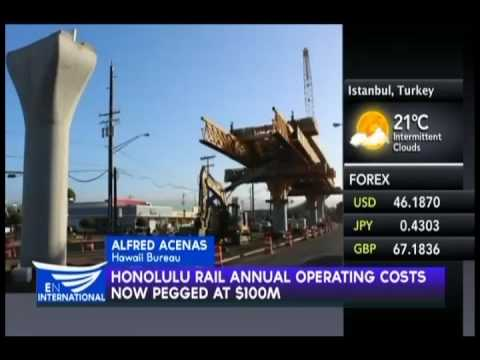 Honolulu rail annual operating costs now pegged at $100 mln