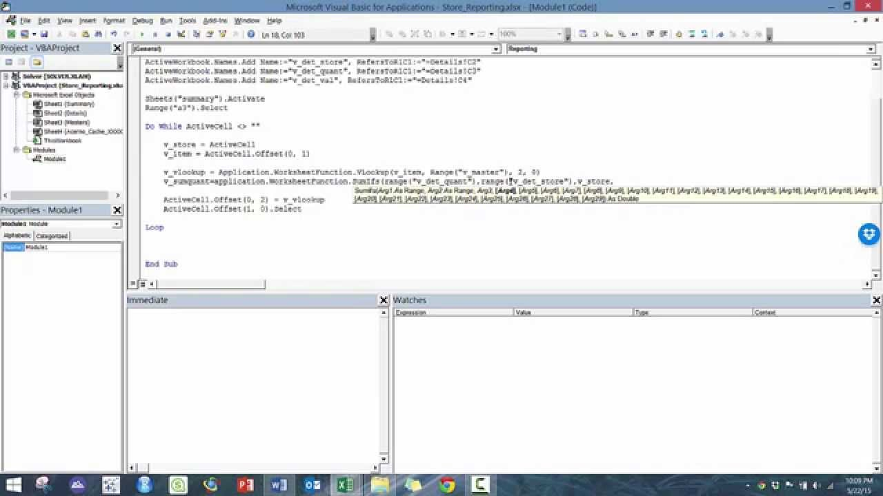 Introduction to Excel VBA - Module 10 (Vlookup/Named References)