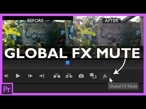 Global FX Mute in Premiere Pro