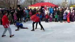Спорт школа Борец (выступление на Масленице в Солнцево)