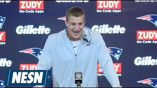 Rob Gronkowski Patriots vs. Texans Week 1 Postgame Press Conference