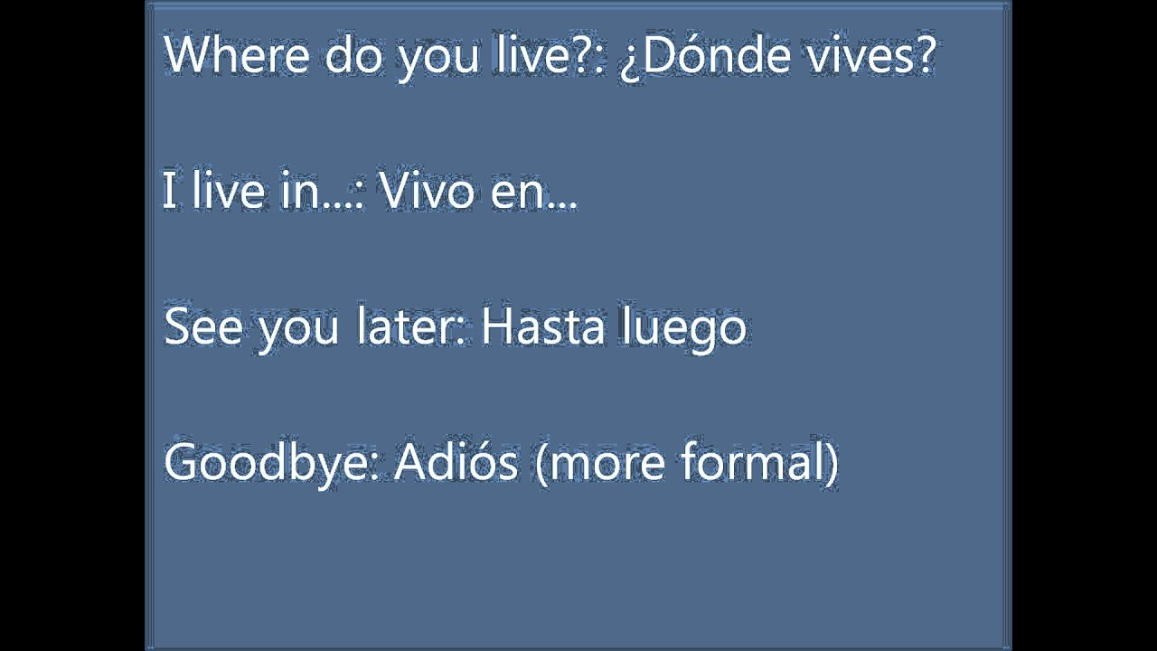 Spanish Translation Sentences