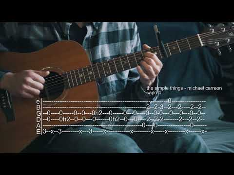 How To Play The Simple Things - Michael Carreon - Guitar Tabs