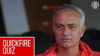 Jose Mourinho | Quickfire Quiz | Manchester United
