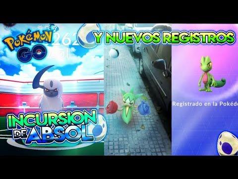 INCURSIÓN de ABSOL & NUEVOS REGISTROS de 3a GEN !! - Pokemon Go