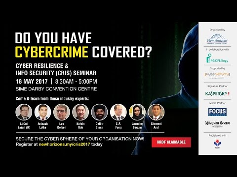 Cyber Resilience & Info Security (CRIS) Seminar - 18.5.2017