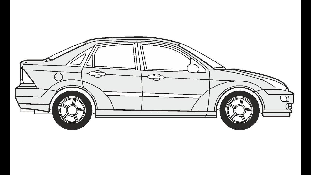 how to draw a ford focus     u041a u0430 u043a  u043d u0430 u0440 u0438 u0441 u043e u0432 u0430 u0442 u044c ford focus