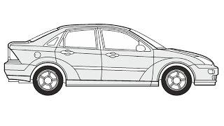How to Draw a Ford Focus / Как нарисовать Ford Focus