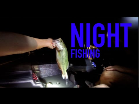 Night Fishing For Bass -- Late Summer