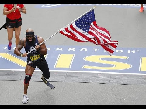 TRUE INSPIRATION: Marine who lost his leg in Afghanistan, finished the Boston Marathon
