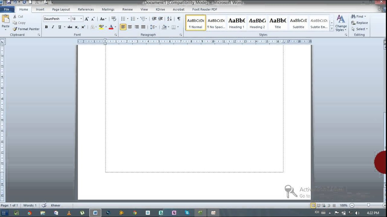 How To Delete A Page Word 2010 (និយាយខ្មែរ)