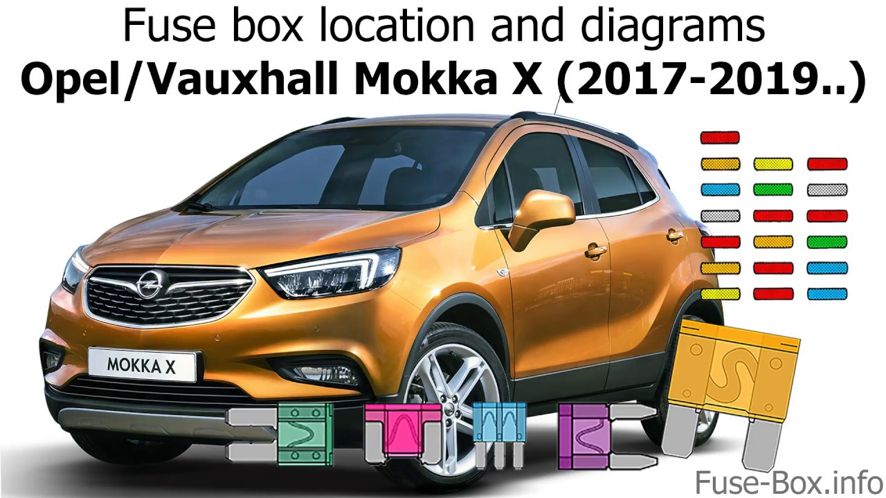 small resolution of fuse box location and diagrams opel vauxhall mokka x 2017 2019