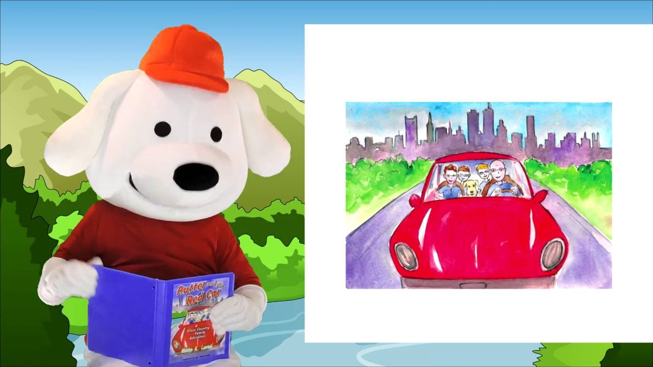 storytime pup childrens book read aloud putter and the red car stories for kids