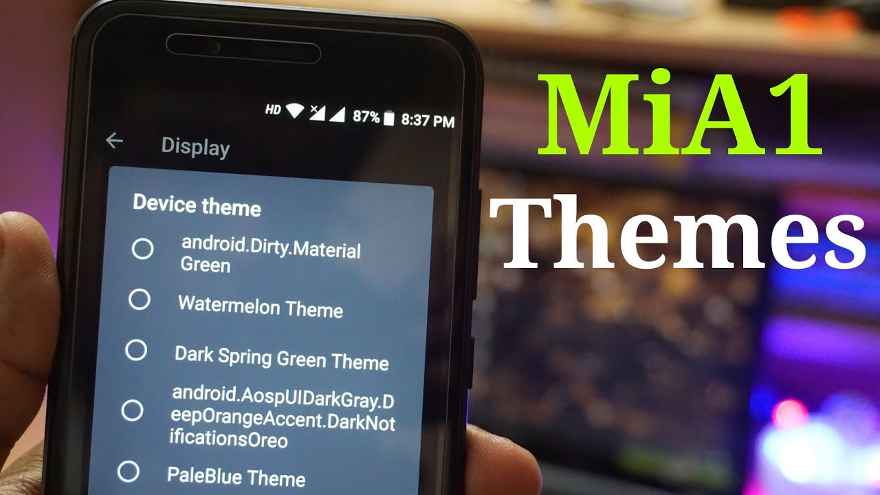 How to Install Themes in Xiaomi MiA1 - No Root