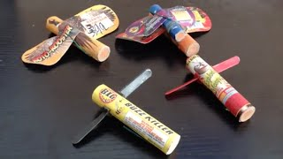 Firework Spinners / Helicopters Comparison