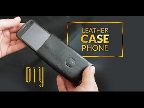 DIY phone case leather  - easy to make case for any phone e.x. iphone