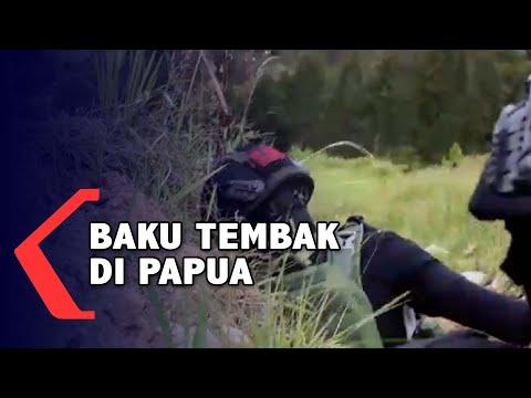 Detik-detik TNI Polri Terlibat Baku Tembak dengan KKB di Papua
