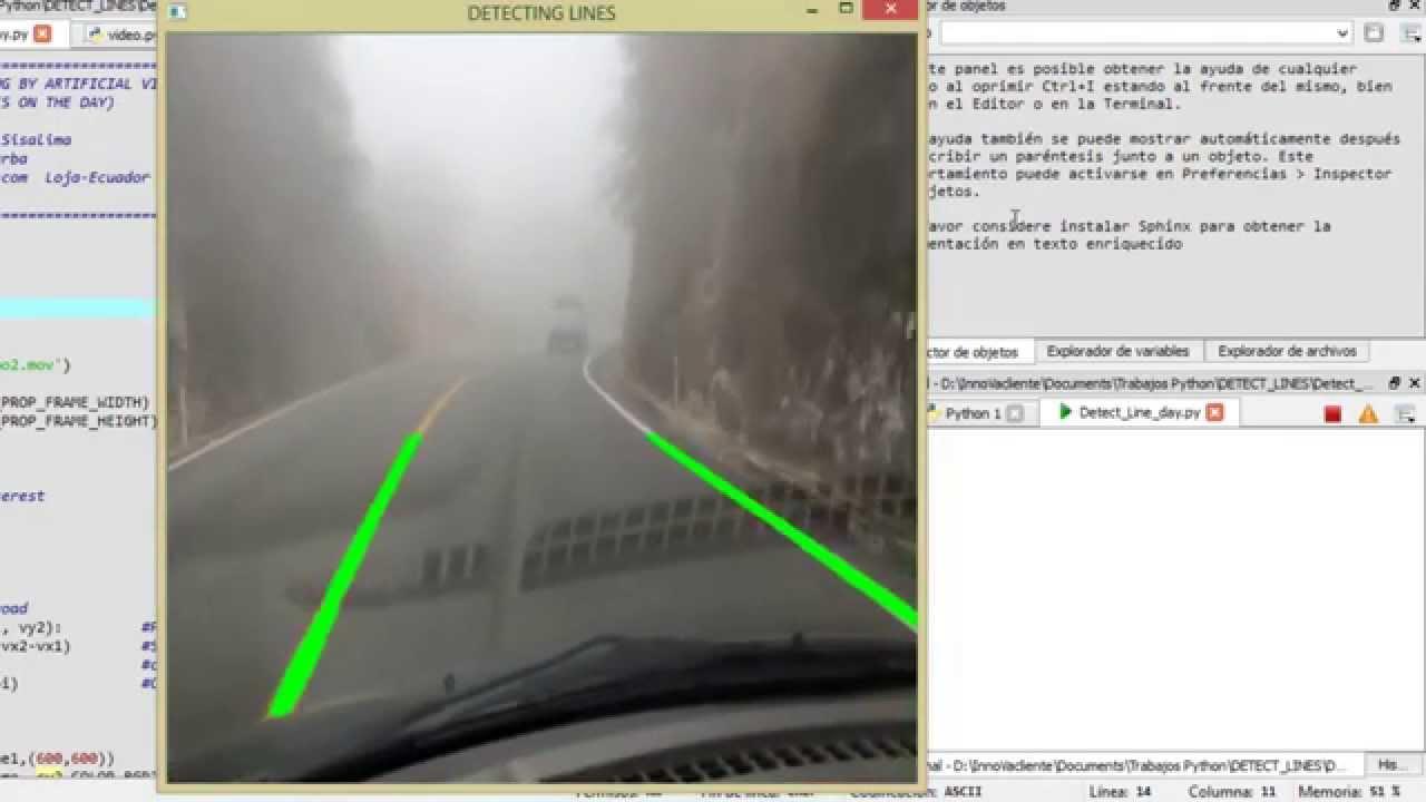 Detecting Lines Opencv Python