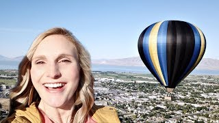 Hot Air Balloon Ride! (with AMAZING drone footage)