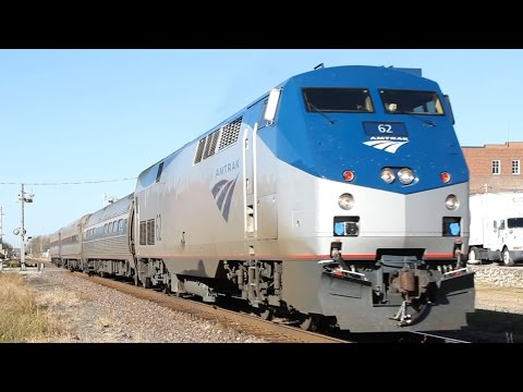 Thumbnail: HD: Amtrak train blasts into town with awesome horn sound show!