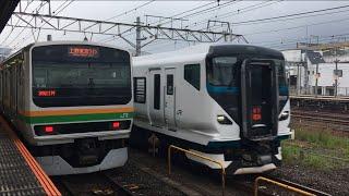 【しょうなん、のぞみ、おだきゅうせん】E257系 特急 湘南、東海道新幹線 N700A のぞみ、小田急線 3000形@小田原駅