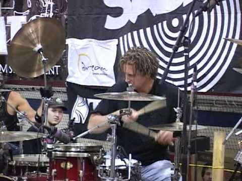 Woodstick 2010 Steve Moore (Mad drummer) Drum Solo