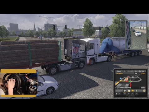 Pass or Play? Euro Truck Sim 2 - Causing Some Trouble! w/Wheel Cam