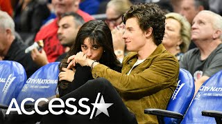 Gambar cover Camila Cabello And Shawn Mendes Share Smooches And Cuddles Courtside At Clippers Game