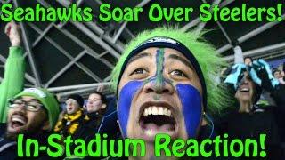  Game#11 Fan Reaction: Seahawks Soar Past Steelers (NorbCam selfie) thumbnail