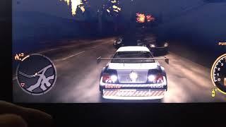 nfsmw 2005 PC gameplay 99 heat level cops