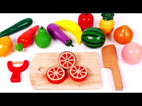 Thumbnail: Learn Colors with Cutting Fruit and Vegetables Playset Toys for Children