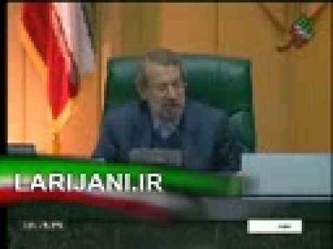 دعوای احمدی نژاد و لاریجانی در مجلس که خیلی احمقانه .flv