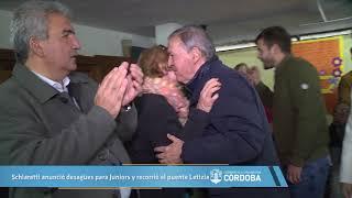 Schiaretti anunció desagües para Juniors y recorrió el puente Letizia