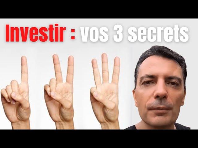 3 facteurs clefs pour reussir ses investissements