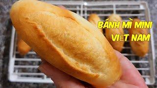 BÁNH MÌ mini Việt Nam nhồi bột bằng tay,nướng bằng nồi chiên không dầu - Cách làm nhanh và dễ