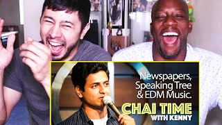 CHAI TIME COMEDY w/ KENNY SEBASTIAN: Newspapers, Speaking Tree & EDM | Reaction by Jaby & Syntell!