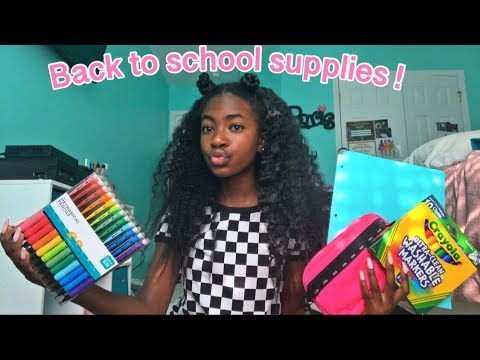 BACK TO SCHOOL SUPPLIES HAUL 2019 **8TH GRADE**