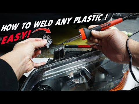 How To Plastic Weld and Fix Broken Or Cracked Plastic Pieces