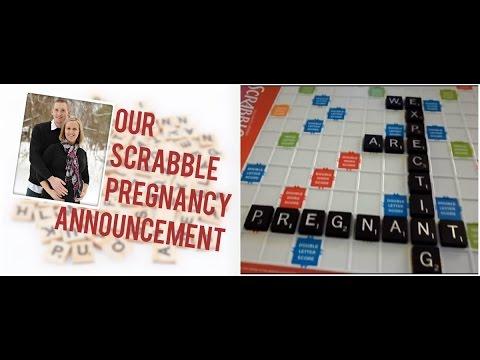 SCRABBLE BABY ANNOUNCEMENT PREGNANCY SURPRISE YouTube – Scrabble Baby Announcement