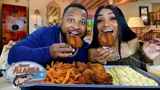 Huge Fried Prawns Mukbang from Great Alaska Seafood