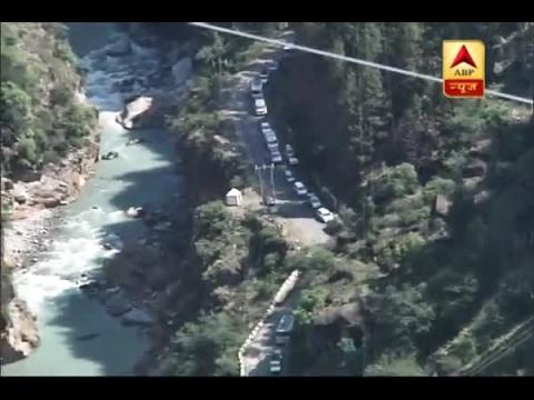 Badrinath highway jammed after landslide once again