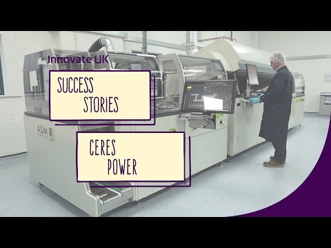 Ceres Power: high speed print line helps scale up fuel cell production