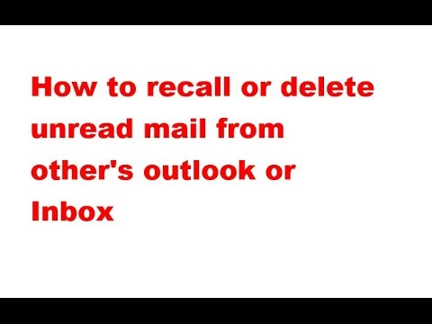how to delete the search in outlook