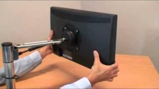 Spacedec SD-AT-DK, SD-SA-DK and SD-SA-DK-DB monitor arm installation video